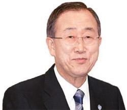 潘基文(パン・ギムン)国連事務総長。