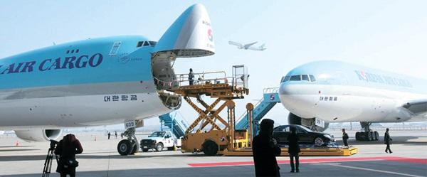 大韓航空。