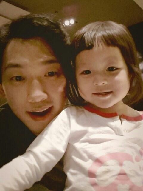 歌手RAINとチュ・サラン(写真=RAINのツイッター)。