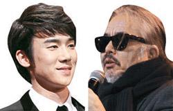 俳優のユ・ヨンソク(左)と歌手のチョン・イングォン。