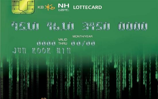 個人情報流出が明らかになったKB国民・NH農協・ロッテカード。(写真は資料)