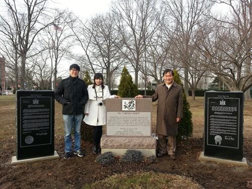 「慰安婦決議案」の通過を記念する記念碑が、米国ニューヨーク州に建てられた(写真提供=KAPAC)。