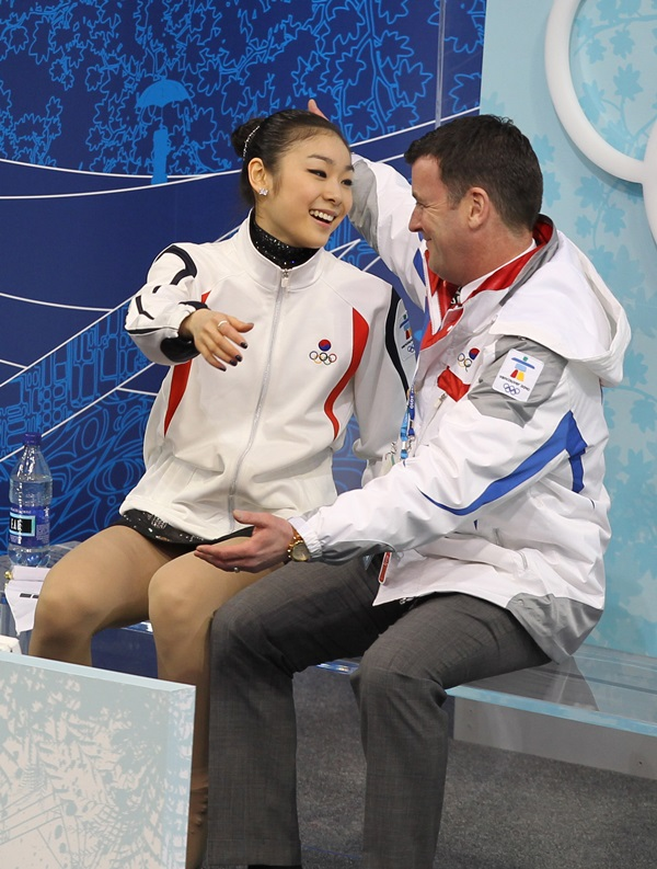 キム・ヨナと元コーチのブライアン・オーサー氏。