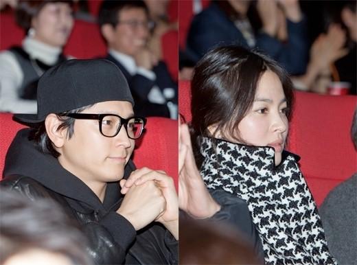 俳優カン・ドンウォン(左)と女優ソン・ヘギョ。