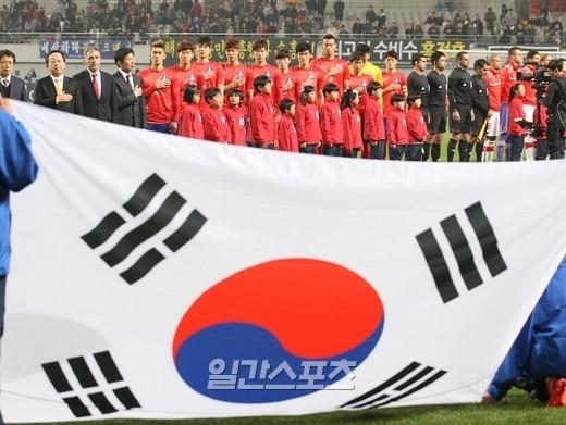 韓国サッカー代表チーム。