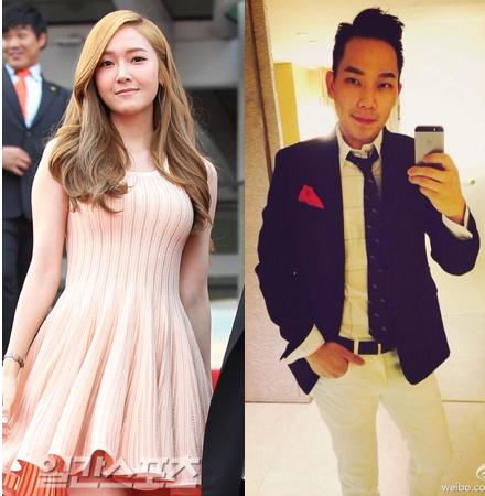 少女時代のジェシカ(左)とタイラー・クォン氏。