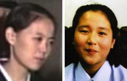 金正恩第1書記の実妹ヨジョン(左)と横田めぐみさんの娘キム・ウンギョンさん