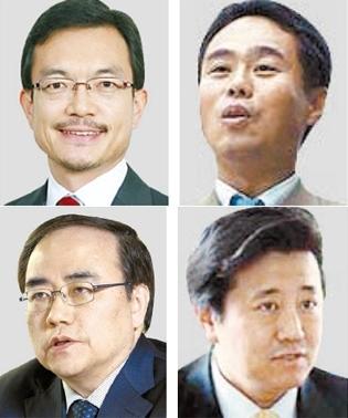 (左から時計回りに)趙世暎(チョ・セヨン)、木村幹、キム・ハングォン、キム・ソンハン。