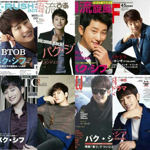 俳優パク・シフが20誌余りに達する日本国内の有力雑誌の表紙モデルを飾った。(写真=フ・ファクトリー)