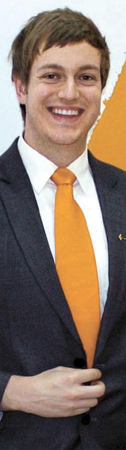 豪州人マイケル・コッケン氏が駐韓豪州大使館貿易代表部で仕事をしていた当時の姿。2011年から2年間ここで仕事をした後、国内のある企業に1年間勤めた。(写真=マイケル・コッケン氏提供)