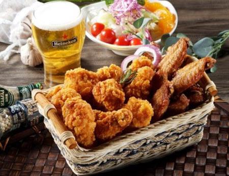 チキンとビール(メクチュ)