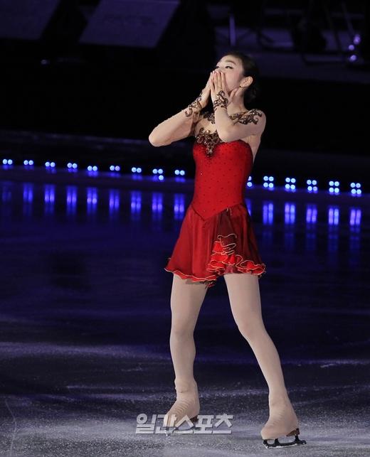 引退舞台を披露したフィギュアのキム・ヨナ。