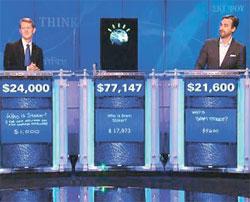 IBM人工知能コンピューターのワトソンは2011年、クイズショー『ジョパディ』に出演して人間のチャンピオンに圧勝した。(写真=中央フォト)