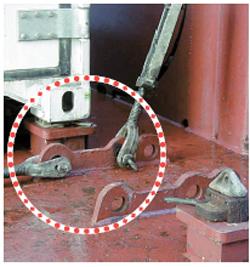 車両固縛装置のD-リング