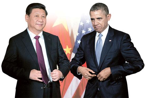 習近平主席(左)とオバマ大統領