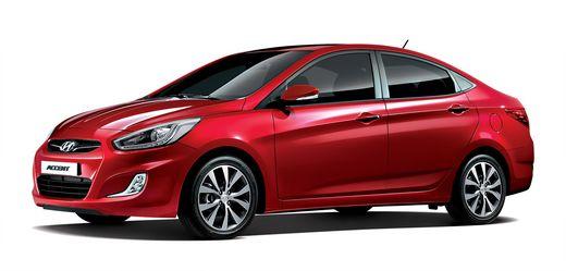 J.D.パワーが23日に発表した2014年商品性満足度調査の結果で、小型車車級1位となった現代車「アクセント」。(写真=現代車提供)
