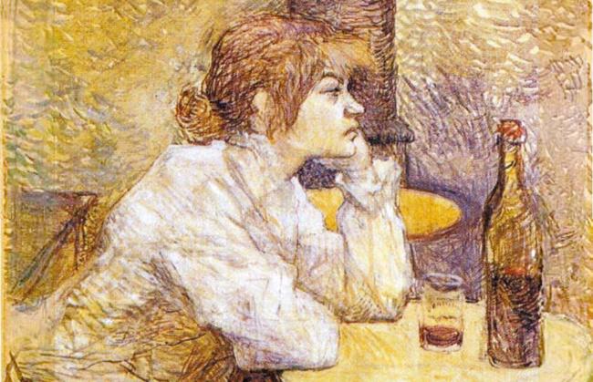 フランスの画家アンリ・ド・トゥールーズ=ロートレックの作品『二日酔い』(1888年)。