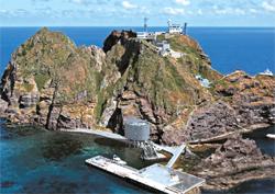 「独島入島支援センター」の鳥瞰図。(写真=慶尚北道)
