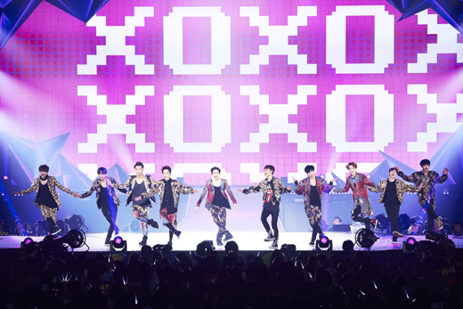 EXOの東京単独コンサート「EXO FROM.EXOPLANET#1-THE LOST PLANET-in TOKYO」の様子