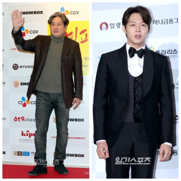 俳優のチェ・ミンシク(左)、パク・ユチョン