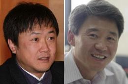 チョン・ヒジュン氏(左)とチェ・テヒョク氏