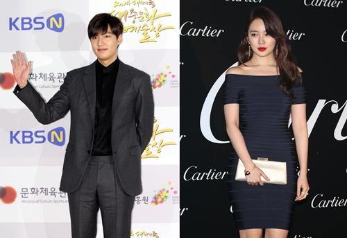 俳優イ・ミンホ(左)と女優ユン・ウネ(右)(写真=中央フォト)