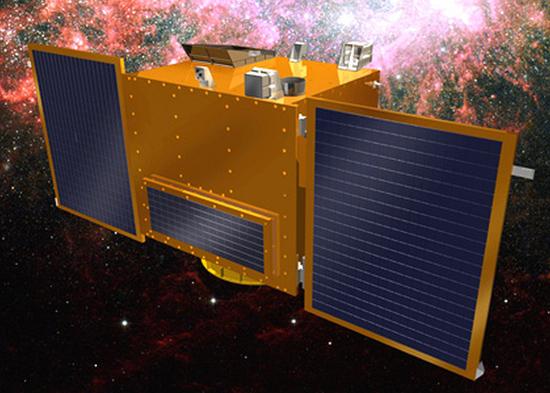 科学技術衛星3号の想像図(写真=未来創造科学部)