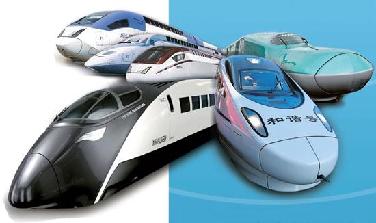 韓国と世界各国の高速鉄道車両。中国の和諧号、フランスのTGV、日本の新幹線などがある。高速鉄道とは時速約200キロ以上で運行される鉄道をいう。(写真=中央フォト)
