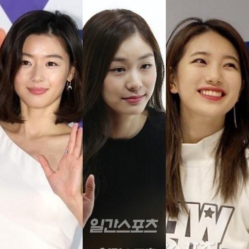 左からチョン・ジヒョン、キム・ヨナ、スジ