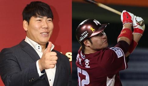 姜正浩(カン・ジョンホ、左)と朴炳鎬(パク・ビョンホ)