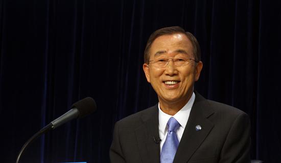 潘基文(バン・ギムン)国連事務総長。(写真=中央フォト)
