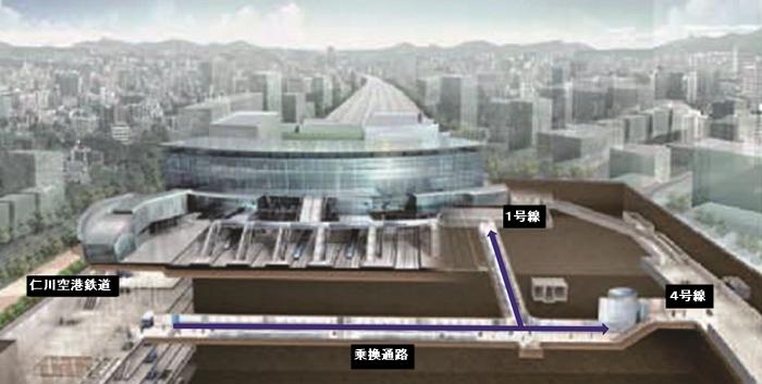 ソウル駅の乗換通路