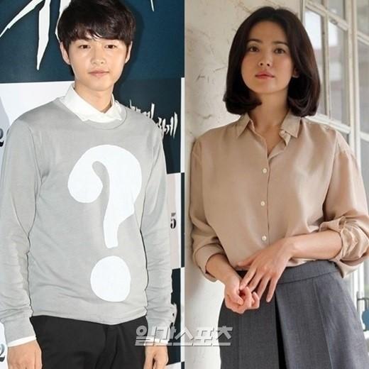 俳優ソン・ジュンギ(左)女優ソン・ヘギョ(右)