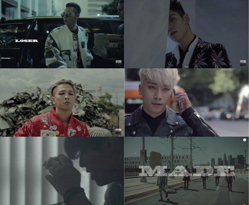 グループBIGBANGの新曲「LOSER」ミュージックビデオのキャプチャー