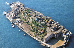 日帝強制占領期に朝鮮人の強制徴用で悪名高かった長崎県端島(軍艦島)海底炭鉱。(写真=中央フォト)
