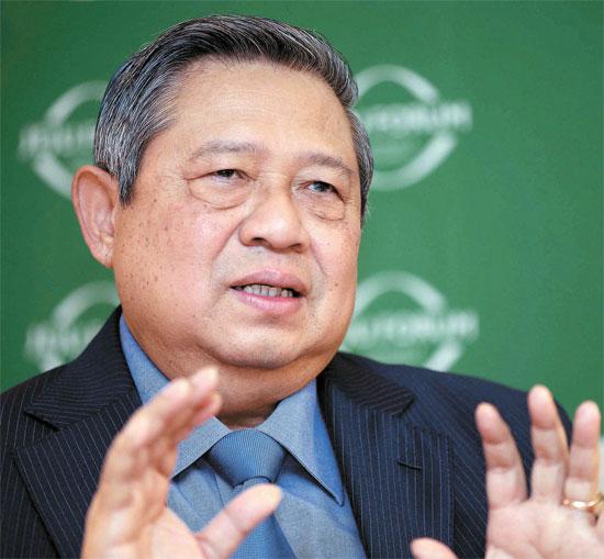 22日のインタビューで真の韓日関係を強調したユドヨノ前インドネシア大統領。