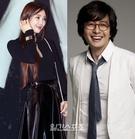 イ・サガン(左)と俳優ペ・ヨンジュン