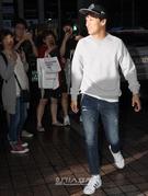20日午後、ソウル汝矣島の飲食店で開かれたKBS第2テレビのドラマ『プロデューサー』の放映終了打ち上げパーティに登場した俳優のチャ・テヒョン。