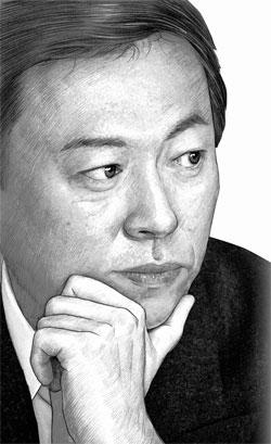 辛東彬(シン・ドンビン)会長(イラスト=パク・ヨンソク)