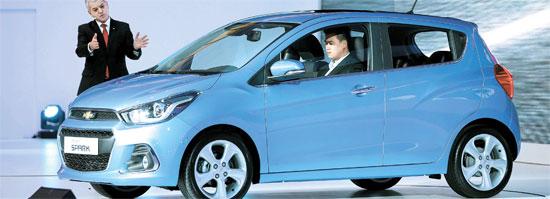 1日、ソウル東大門のデザインプラザで開かれた新車発表会で紹介された「ザ・ネクスト・スパーク」。