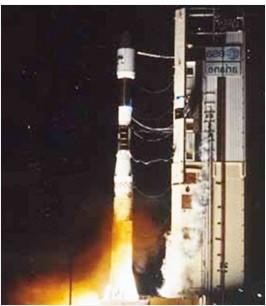 韓国初の人工衛星「KITSAT-A」の打ち上げ場面(写真=KAIST人工衛星研究センター)