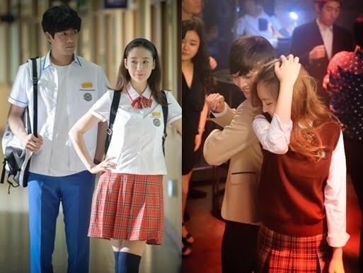 女子高生姿のチェ・ジウ(写真=tvN提供)