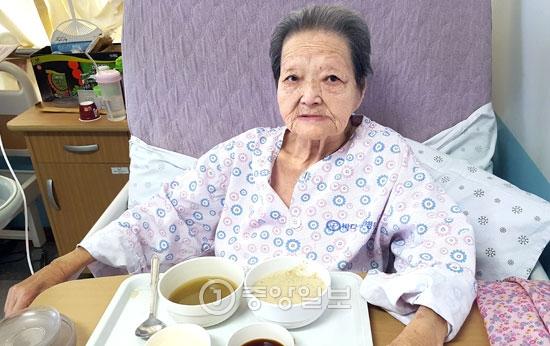 キム・ヤンジュさんは昨年まで他の地域で開かれる慰安婦被害関連行事にも参加していたが、今年に入って健康が悪化し、入院している。
