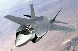 昨年、韓国空軍の次期戦闘機に選定された米国のF35。