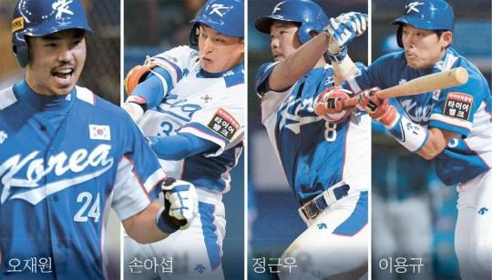 左から呉載元(オ・ジェウォン)、孫児葉(ソン・アソプ)、鄭根宇(チョン・グンウ)、李容圭(イ・ヨンギュ)