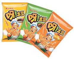 中国で販売されているオリオンのポテトスナック菓子「呀!土豆」