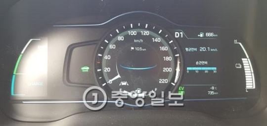 20日に現代自動車「アイオニック」を乗ってソウル自由路の45キロメートルを時速56キロメートルで52分間走り記録した燃費であるリッター当たり20.1キロメートル(17インチタイヤ基準)