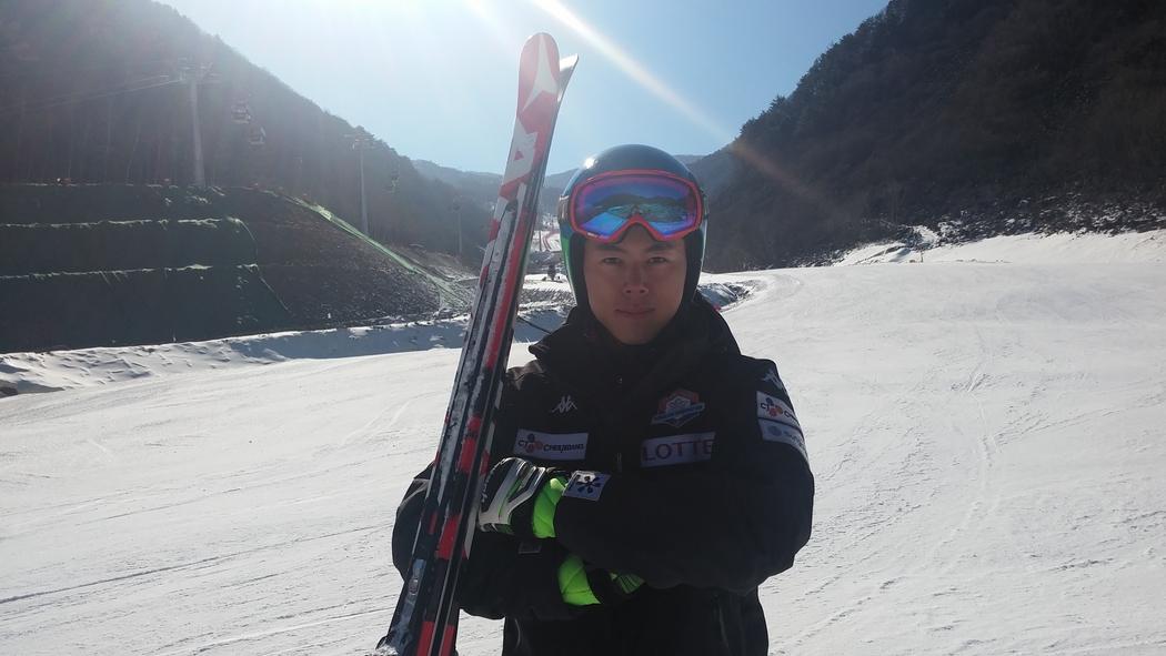 2016FISアルペンスキーW杯大会男子スーパー大回転で42位に入ったキム・ヒョンテ