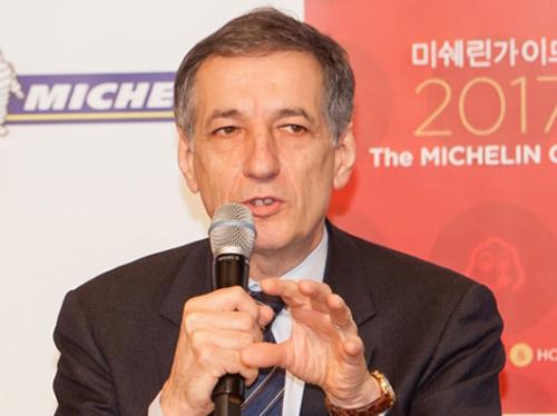 デルマス副社長は韓国シェフの創造的で躍動的な料理を高く評価した。(写真=ミシュラン・コリア)