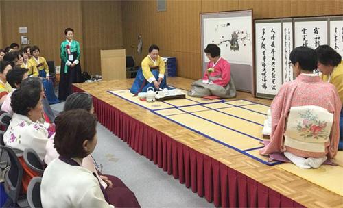 17日、京都で韓国茶文化協会京都支部開設式が開かれた。(写真提供=韓国茶文化協会)